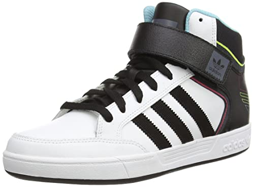 adidas Varial Mid, Men's Skateboarding Shoes, White (ftwwht/cblack/ltaqu)