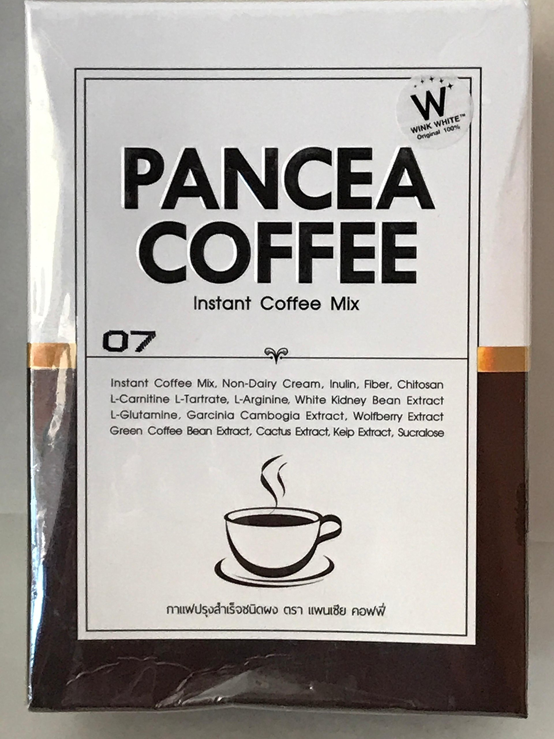 PANCEA COFFEE instant coffee mix, 10 sacks (Pack of 6) by Wink White
