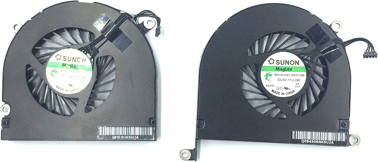661-5044, 922-9295 Left CPU Cooler Fan Replacment Fit for Apple MacBook Pro 17 A1297 Early 2009-Late 2011 Ittecc