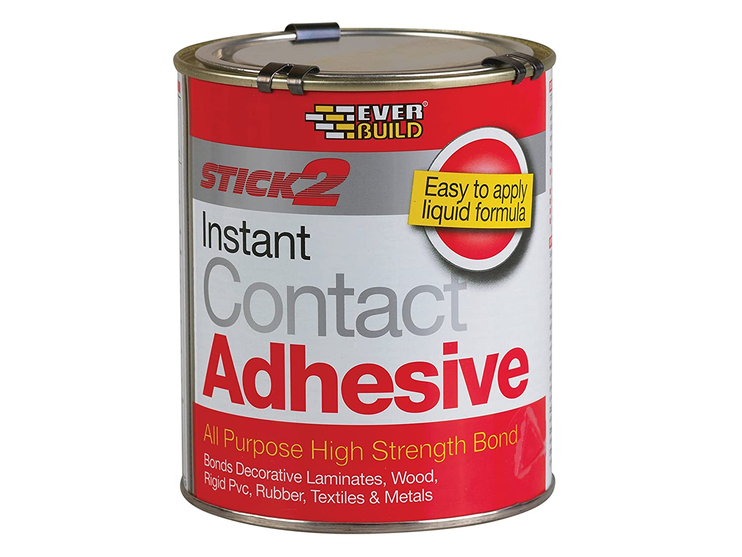 everbuild cona stick instant contact adhesive l amazon co uk everbuild con750 stick 2 all purpose contact adhesive 750ml