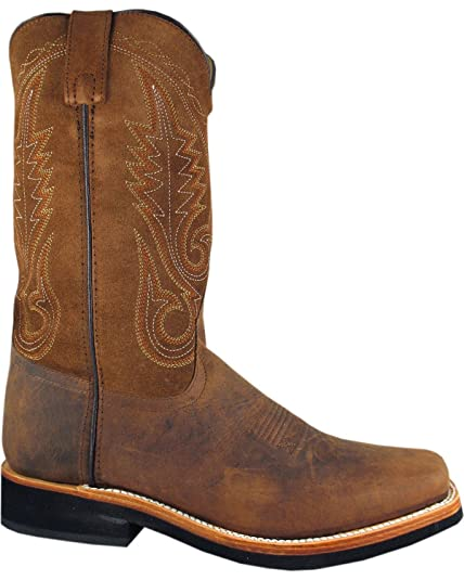 392018a6f Smoky Mountain Men s Boonville Cowboy Boot Square Toe - 4028 Brown  Amazon. co.uk  Shoes   Bags
