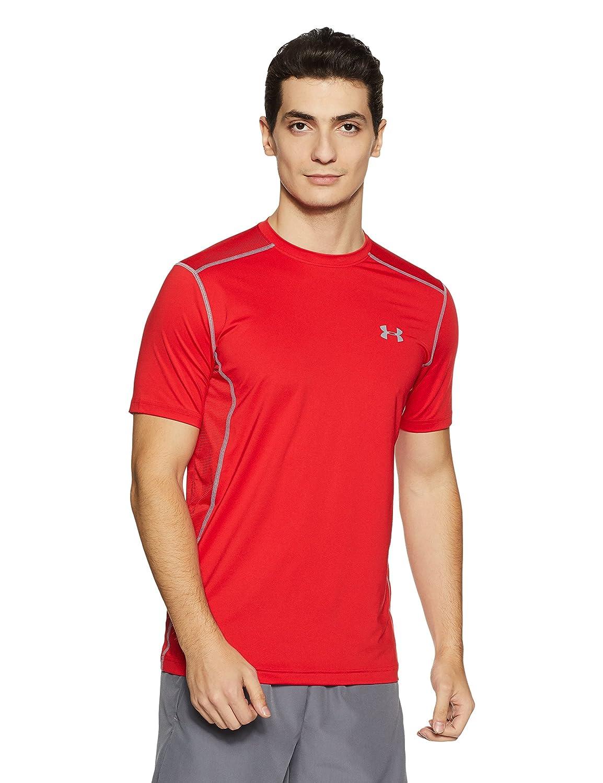 (アンダーアーマー) UNDER ARMOUR ヒットヒートギアSS(トレーニング/Tシャツ/MEN)[1257466] B016APQDZ4 X-Small|レッド/スチール レッド/スチール X-Small