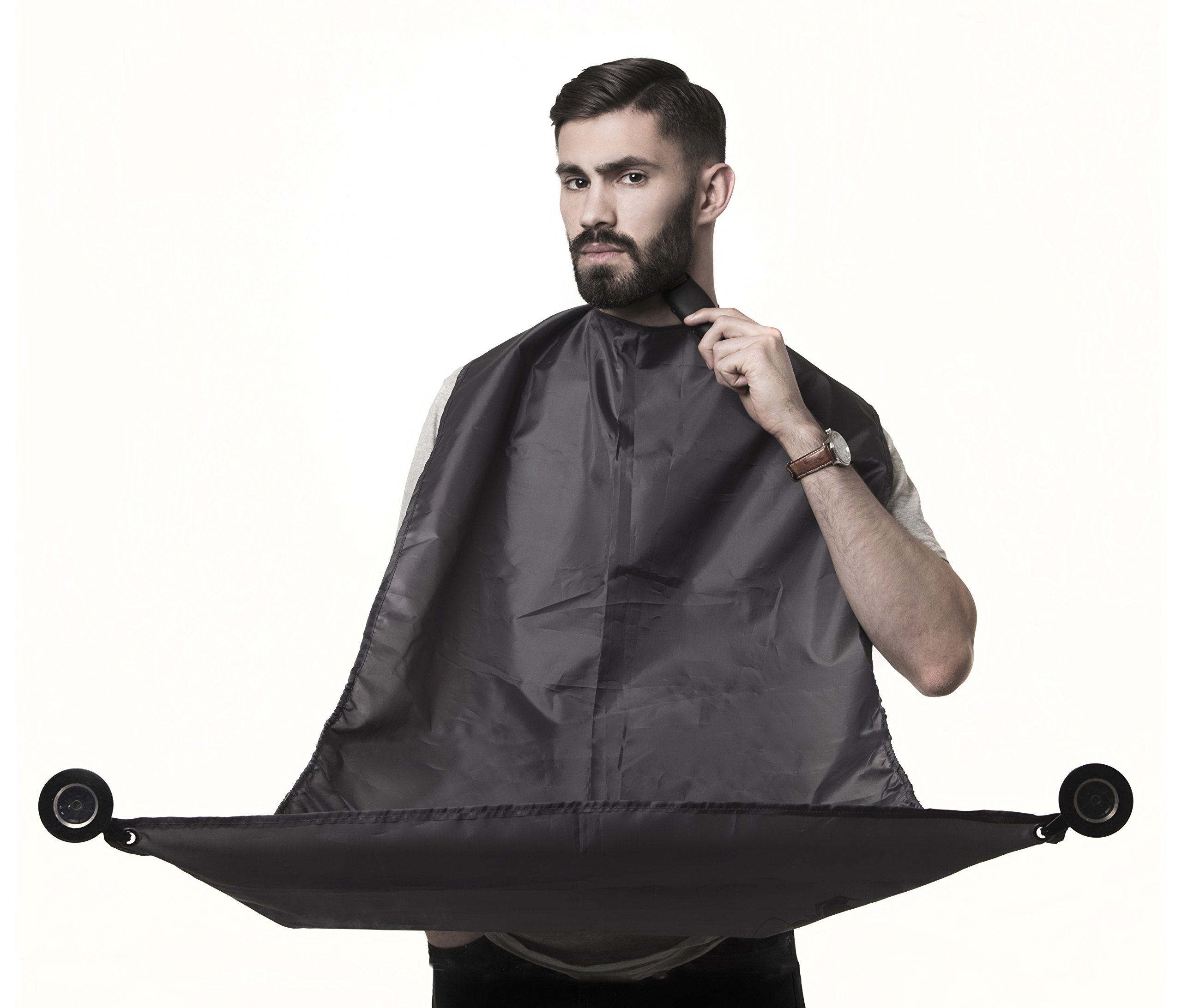 2017 New design Darwins Beard Catcher™ 2.0 – Trim Your Beard Hair Clippings in Minutes Without The Mess!