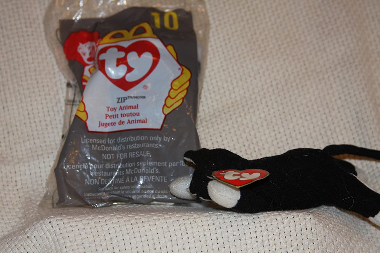 Ty Beanie Babies McDonalds Cat Zip #10 1998