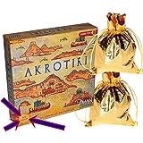 AKROTIRI New Edition _ 2 Player Game _ Bonus 2 Gold Drawstring Storage Bags _ Bundled Items