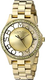 Marc by Marc Jacobs Women's MBM3338 Skeleton Gold-Tone Stainless Steel Bracelet