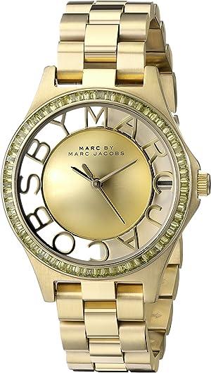 Marc by Marc Jacobs Women's MBM3338 Skeleton Gold-Tone Stainless Steel Bracelet Watch