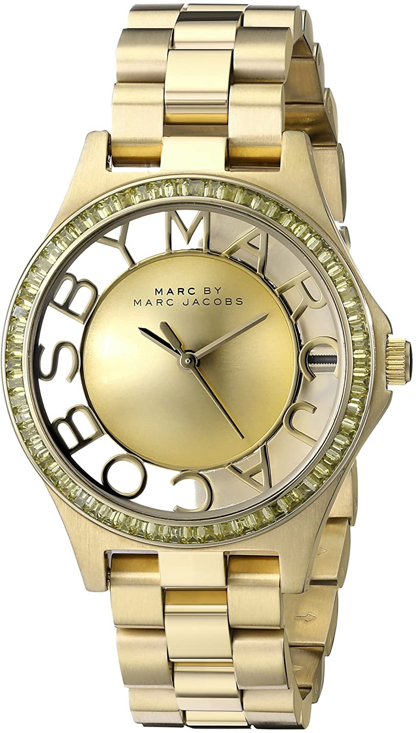 By Bracelet Tone Gold Jacobs Steel Stainless Marc Watch Mbm3338 Skeleton Women's YHb9IeWED2