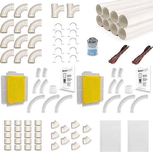 Retraflex - Juego de accesorios para aspiradora central, incluye ...