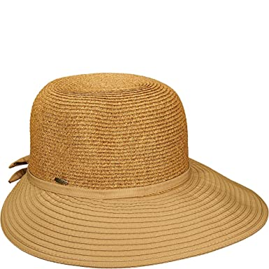 8988a52ac1b29 SCALA Women s Ribbon and Paper Braid Facesaver Tan Hat One Size ...