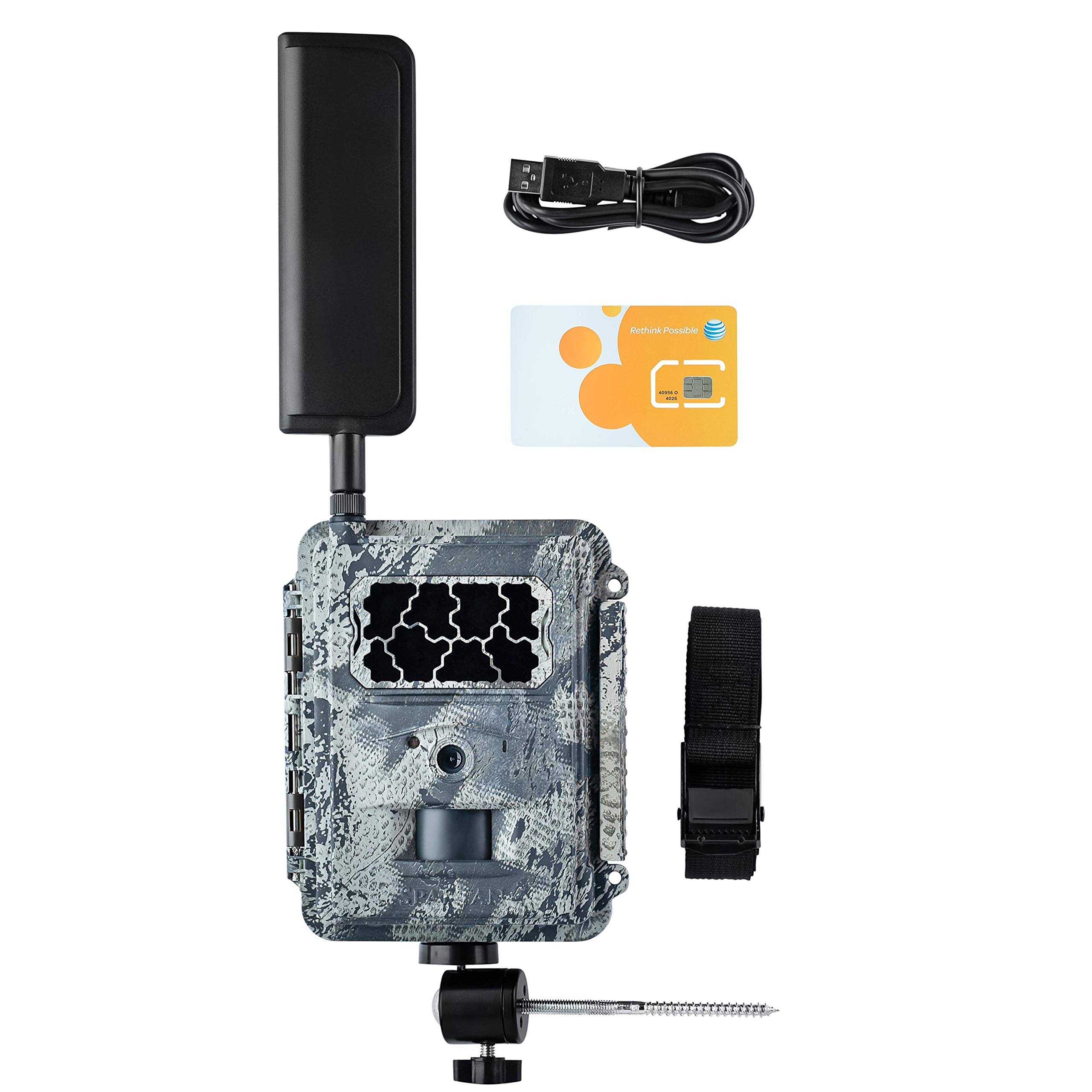 Spartan 4G LTE GoCam Wireless Trail Camera with Mount, AT&T Blackout by SPARTAN
