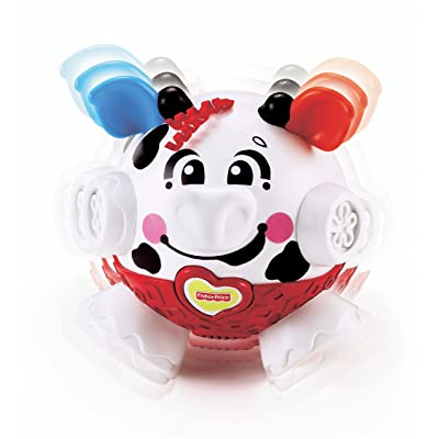 Fisher-Price Bounce & Giggle - Cow: Toys & Games