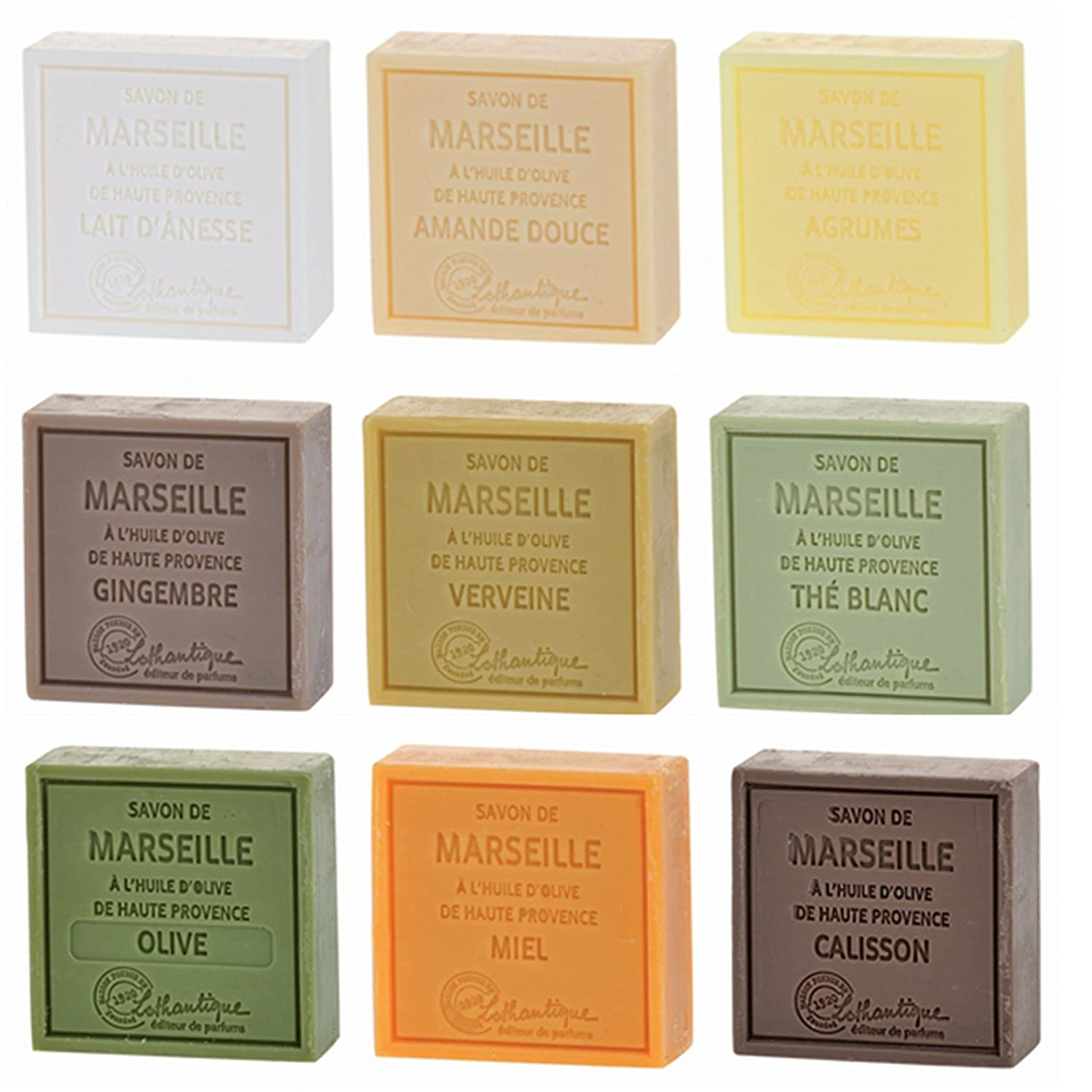 Lothantique Savon de Marseille Soap, set of 9, 100G each