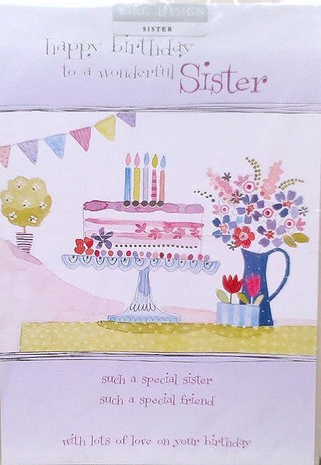 cumpleaños feliz a Wonderful SISTER!: Amazon.es: Hogar