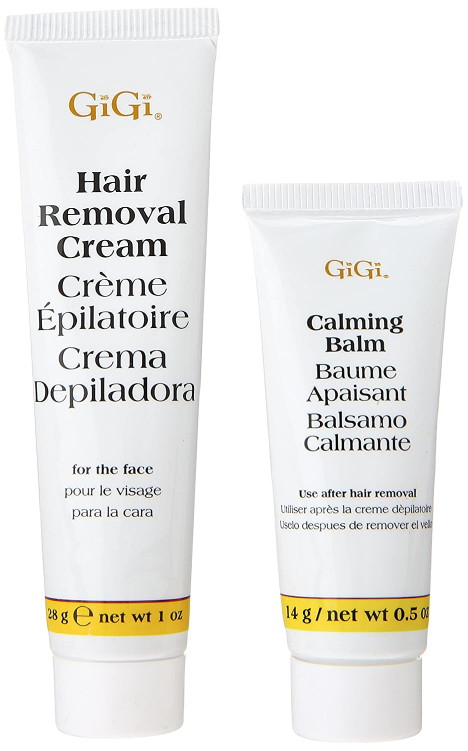 Amazon.com : Gigi Hair Removal Cream for The Face with Calming Balm (6 pack) : Beauty