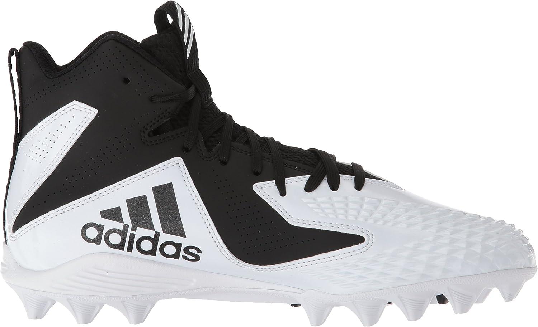 adidas Men's Freak Mid Md Football Shoe White/Black/Black
