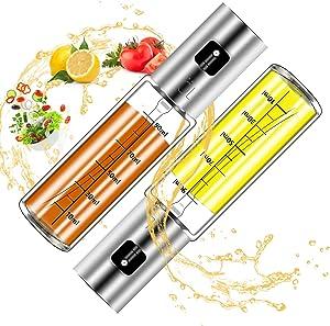 Oil Dispenser Bottle,2pack Oil Sprayer Dispenser For Cooking,Salad, BBQ, Kitchen Baking, Roasting