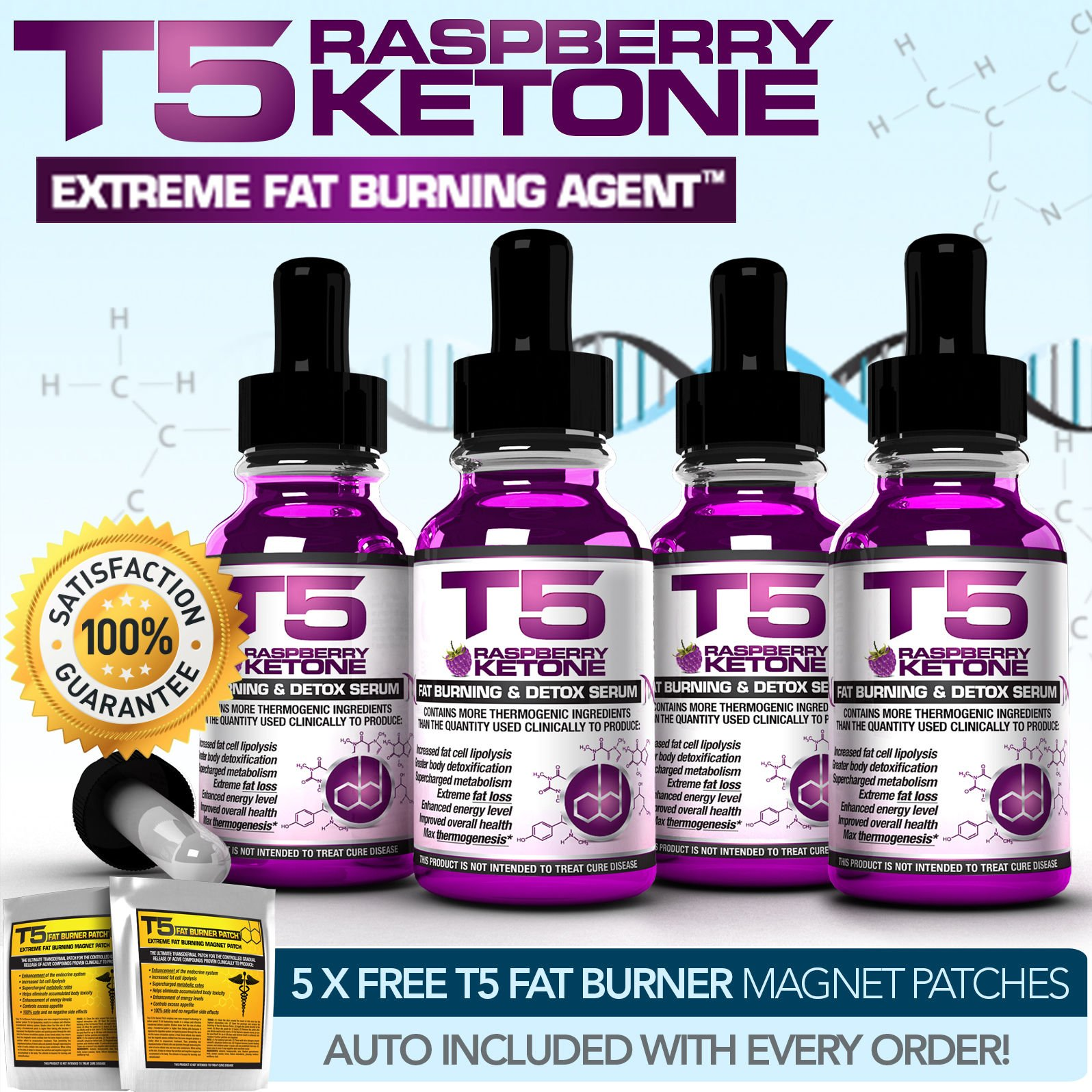 X4 RASPBERRY KETONE SERUM - BETTER THAN DIET / SLIMMING / WEIGHT LOSS PILLS