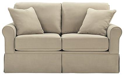 Ashley Furniture Signature Design - Senchal Contemporary Loveseat - Stone