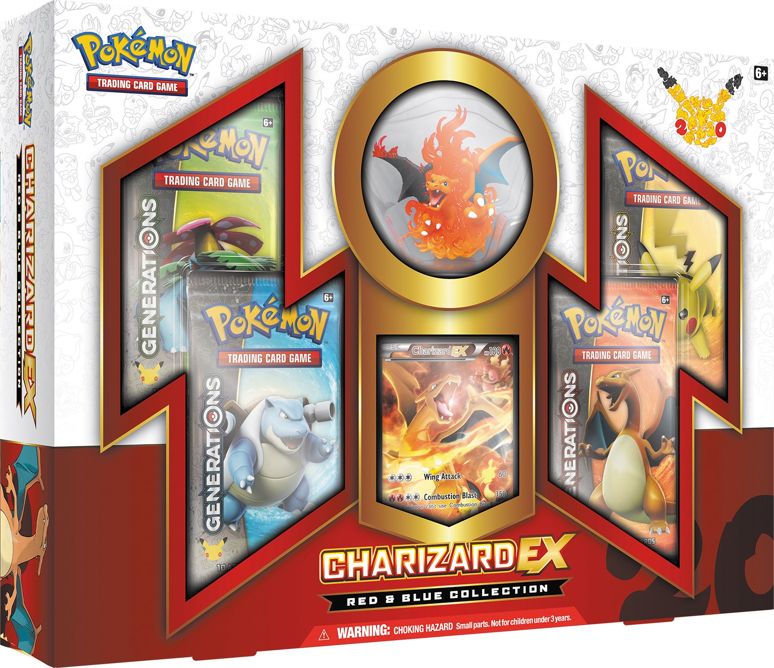 Tcg: Charizard-Ex Collection Card Game Red/Blue 2