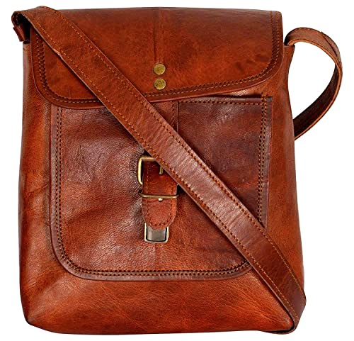 Leathercraft Genuine leather New coach Women  Cross-Body sling Bag size  (8x8) (Brown 813f8aeacc424