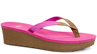 UGG Women's Ruby Furious Fuchsia Leather Sandal 10 B ...