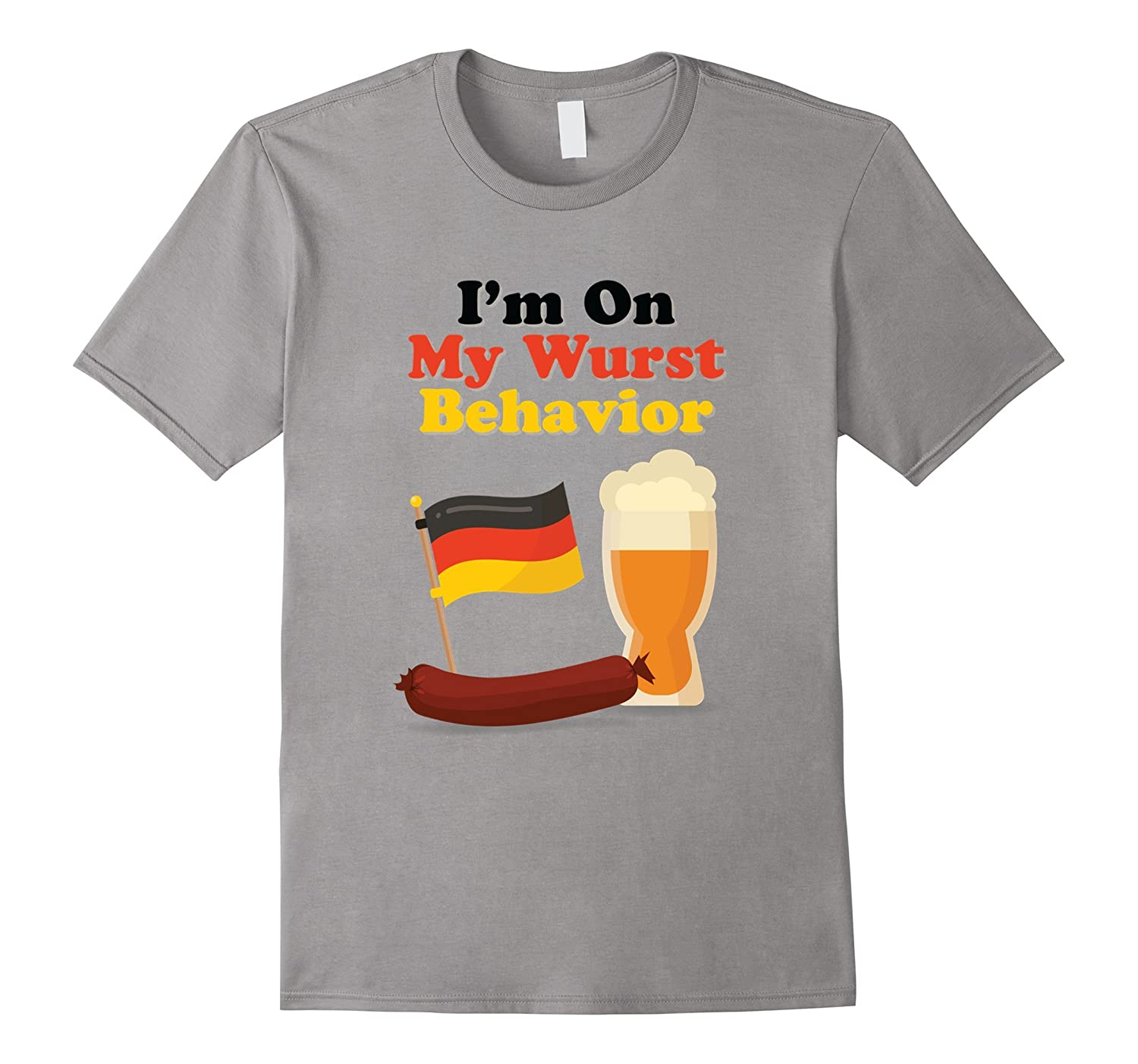 Wurst Behavior Funny German Oktoberfest Beer Brat T-Shirt-TH