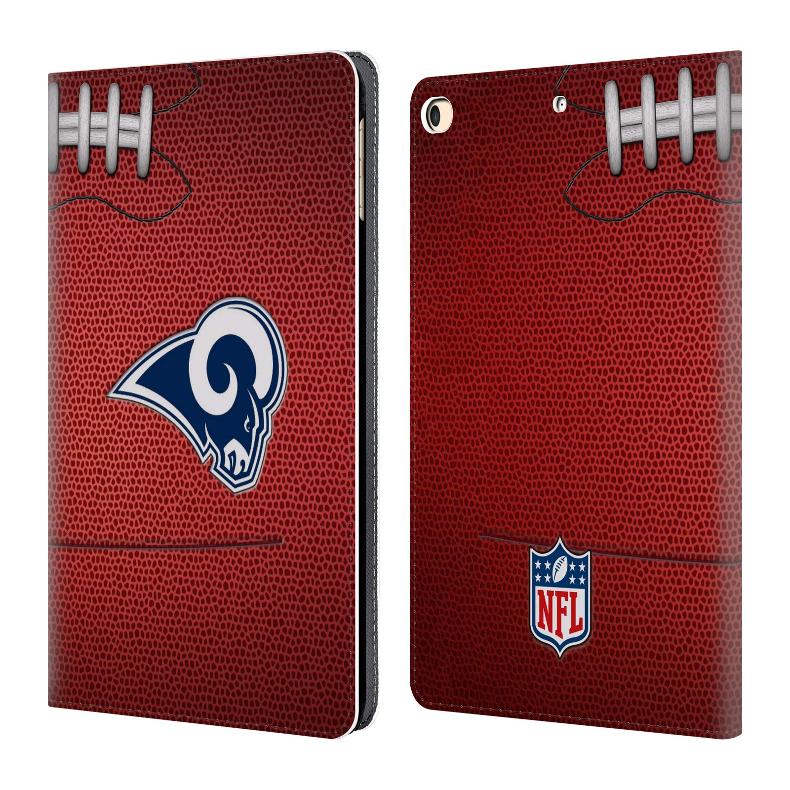 Official NFL Football 2018/19 Los Angeles Rams Leather Book Wallet Case Cover for iPad 9.7 2017 / iPad 9.7 2018
