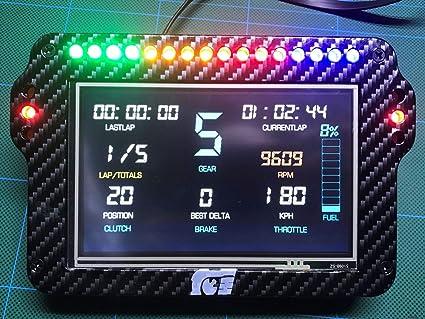 Simortar Dash Pro 5-inch LED Simulation Racing Instrument F1 Racing
