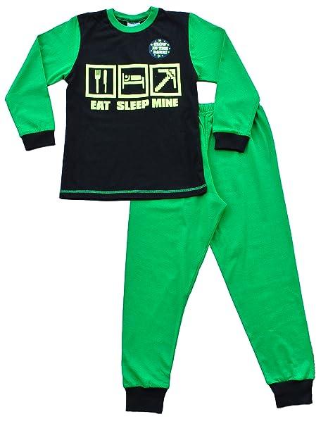 Brilla en la oscuridad de apagado Mine pijama Eat Gamer, palo de golf para niños