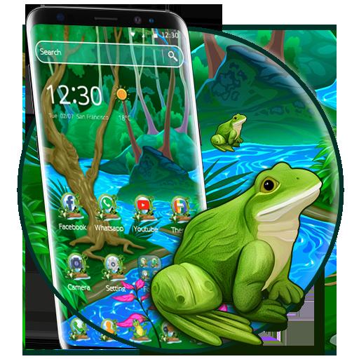 Cute Cartoon Frog 2D Theme]()