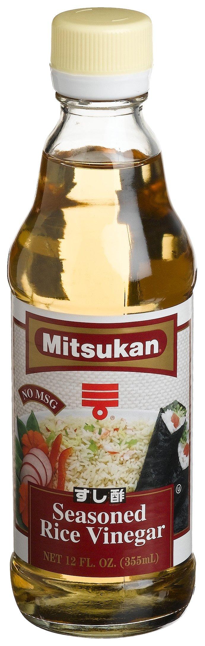 Mitsukan Seasoned Rice Vinegar, 12-Ounce Bottles (Pack of 6) by Mitsukan