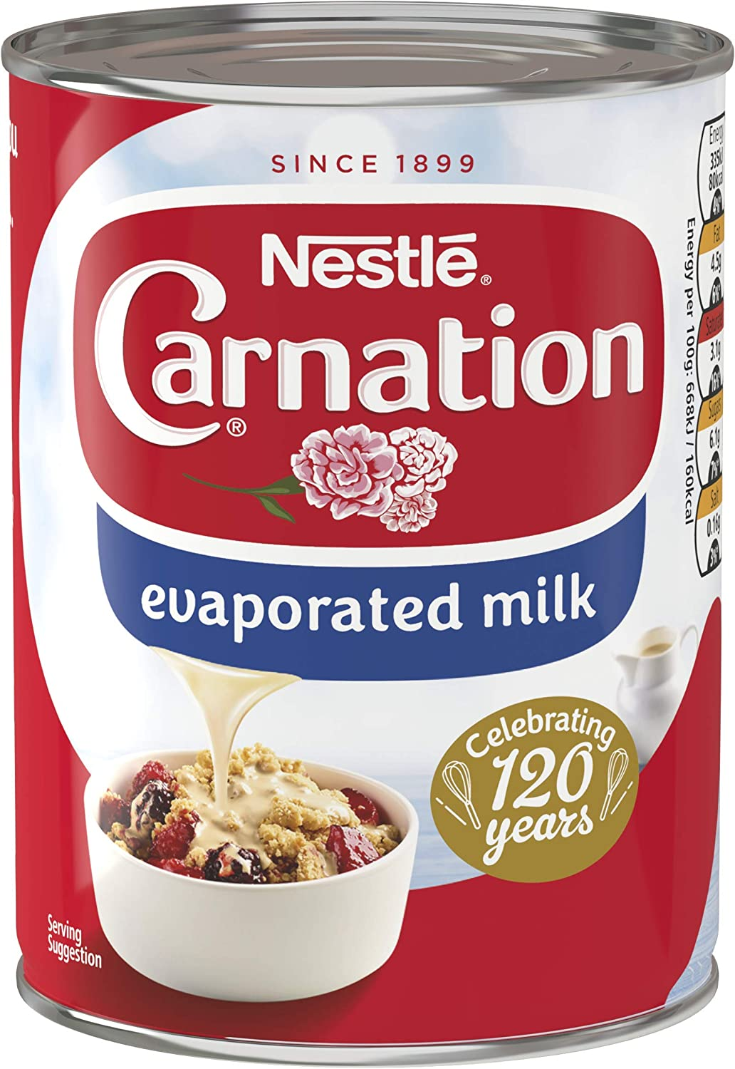 Nestlé Carnation Evaporated Milk, 410 g (Pack of 12): Amazon.co.uk ...