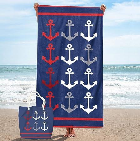 KN Toalla Playa para Mujer en Diseño de Impresos con Regalo de Una ...