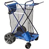 Beach Cart - Easy Roll Ultra Wide Wheels with Mesh Storage