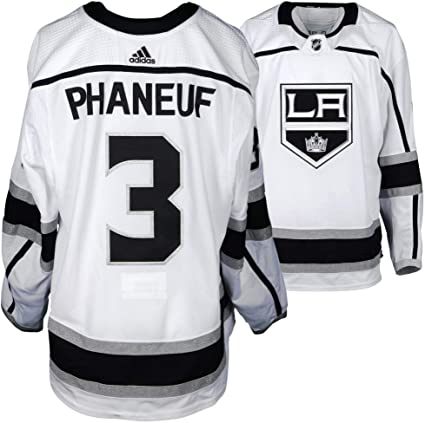 Dion Phaneuf Los Angeles Kings Game-Used  3 White Jersey from the ... 9e4782b0f
