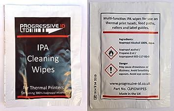 Impresora térmica cabezal de impresión de limpieza toallitas x 10: Amazon.es: Electrónica