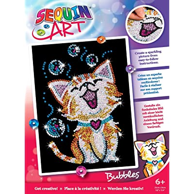 Sequin Art Red Bubbles The Kitten Arts and Crafts Kits: Toys & Games