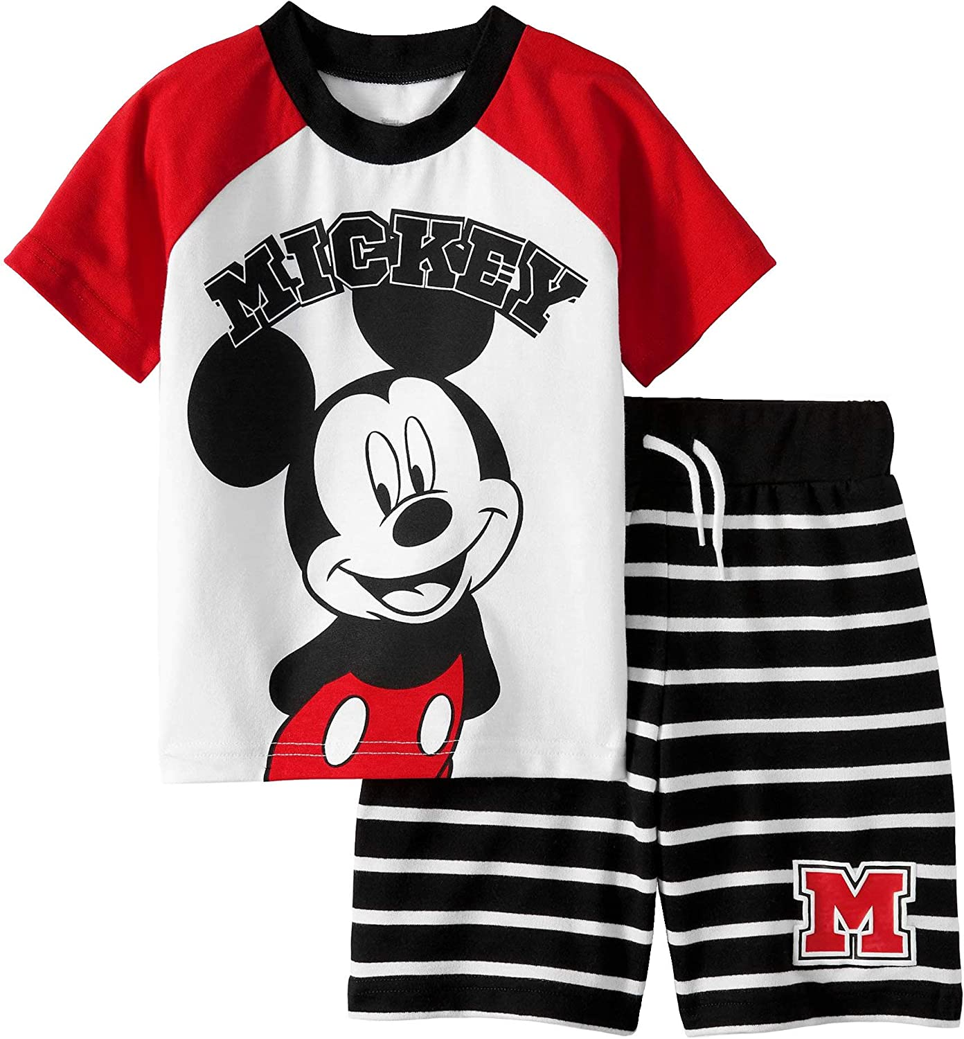 Disney Mickey Mouse Toddler Little Boys Tee Shirt and Short Set