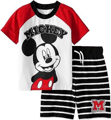Conjunto de Ropa de Mickey Mouse para niños pequeños y Camisetas: Amazon.es: Ropa y accesorios