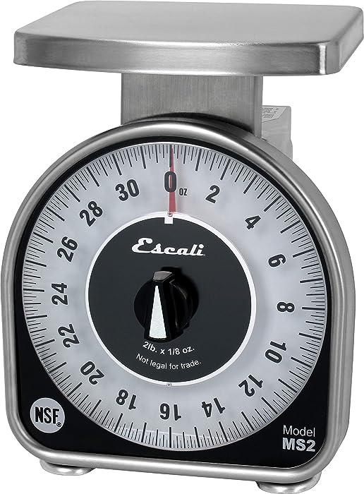 San Jamar SCMDL2 Mechnical Dial Food/Kitchen Scale, 2 lb Capacity