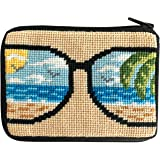 Amazon.com: Kitty Kat gato negro Needlepoint – Monedero ...