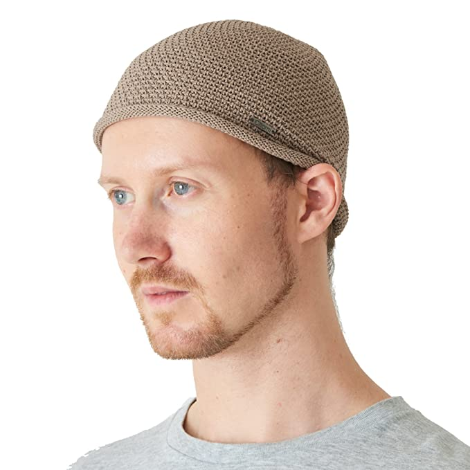 7786805ce2e818 Charm Mens Skull Cap Knit - Linen Kufi Hat Japanese Fashion All Season  Muslim Prayer Hat