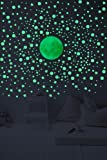 Glow In The Dark Wall Decals - 3D Stars And DotsBonus Moon. Stickers For Home Decor Set of 328 3D Self Adhesive Wall…