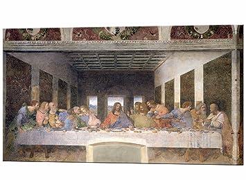 La Ultima Cena De Leonardo Da Vinci Impresion De Lienzo Enmarcado De