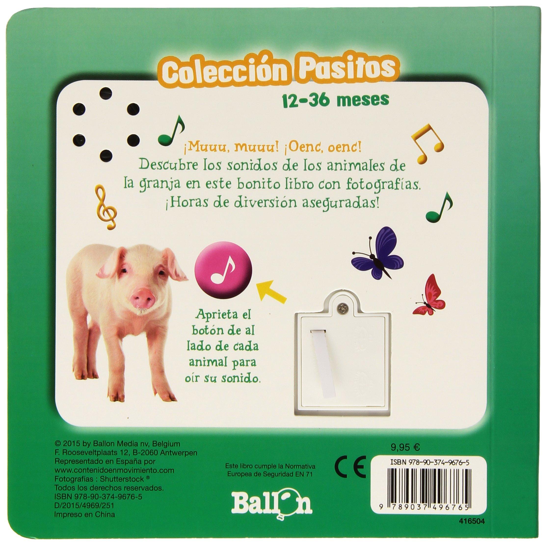 Animales De La Granja. Pasitos Con Sonidos: Amazon.es: Ballon, Codina Stein, Teresa: Libros