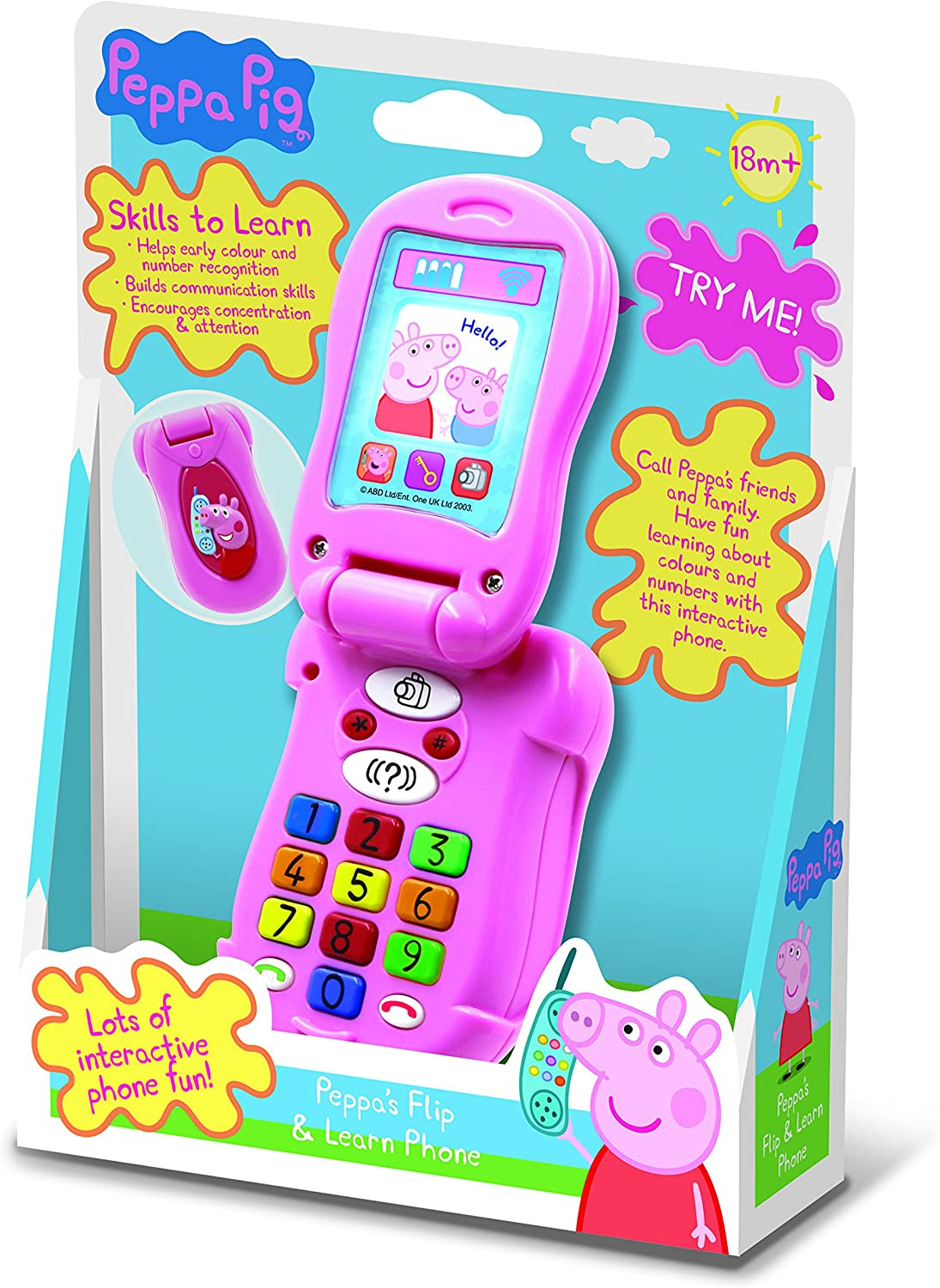 Peppa Pig Flip /& Learn Phone Ages 18 Months+
