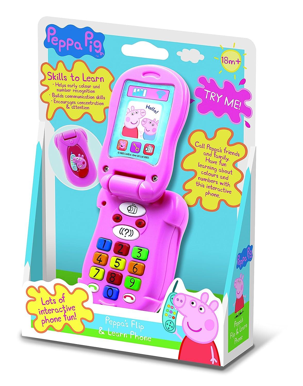Peppa Pig Pp06/Flip et dapprendre t/él/éphone jouet /électronique avec piles Basics