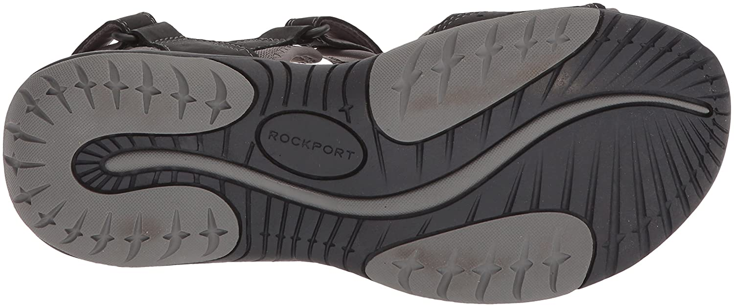 Rockport Women's Franklin Three Strap Sport Sandal B073ZRQY7H 9.5 W US|Black