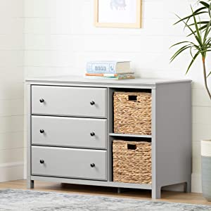 South Shore Cotton Candy 3Drawer Dresser with Baskets